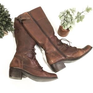 Marc Fisher Women Leather Boots size 7 1/2